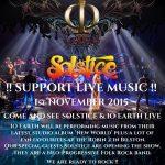 IO Earth + Solstice @ The Robin, Bilston - Sunday 1st November, 2015