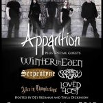 Apparition + Winter in Eden + Serpentyne + Control The Storm + Alice In Thunderland @ The Robin, Bilston - Sunday, May 6th 2018