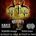 Hostile + Moray Firth + Under Blackened Skies @ The Slade Rooms, Wolverhampton – Thursday 16th May 2013