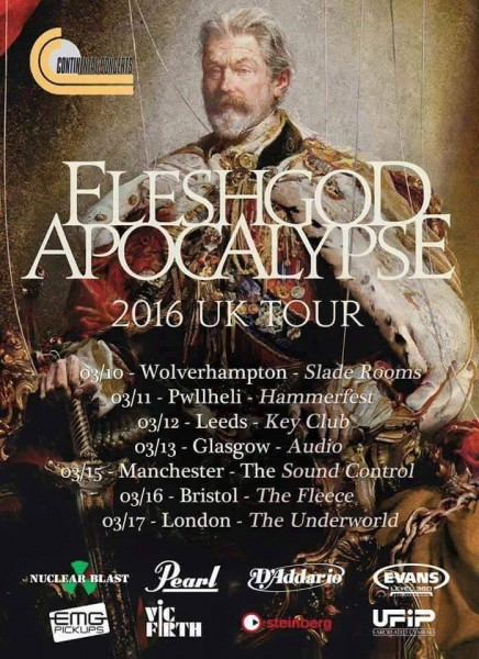 Fleshgod Apocalypse 2016 UK Tour