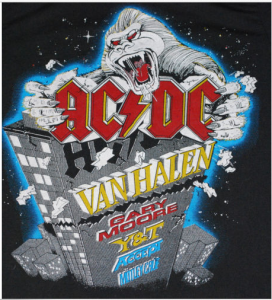 Monsters Of Rock 1984 tshirt design