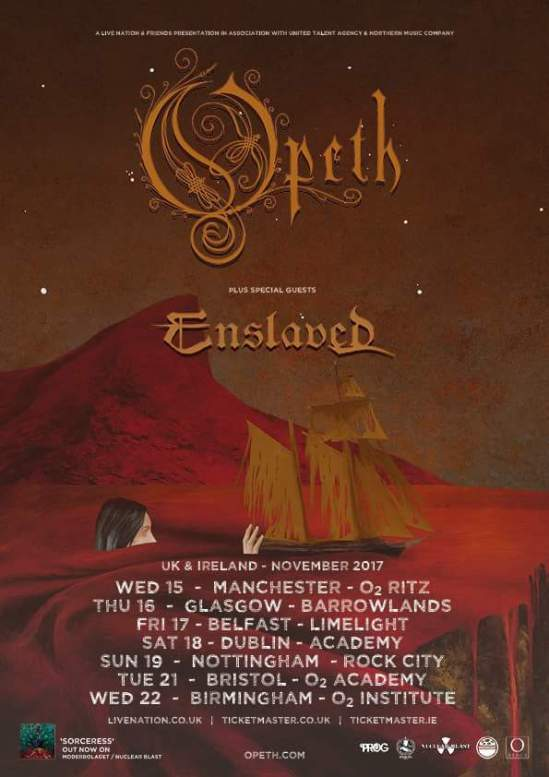 Opeth Enslaved 2017