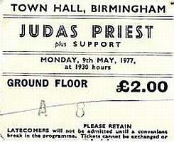 Priest ticket stub